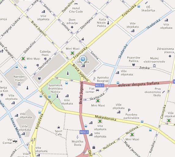 deligradska ulica beograd mapa Kontakt   Vojna ustanova